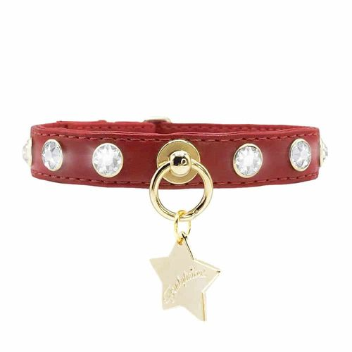 Collar Crystals Red