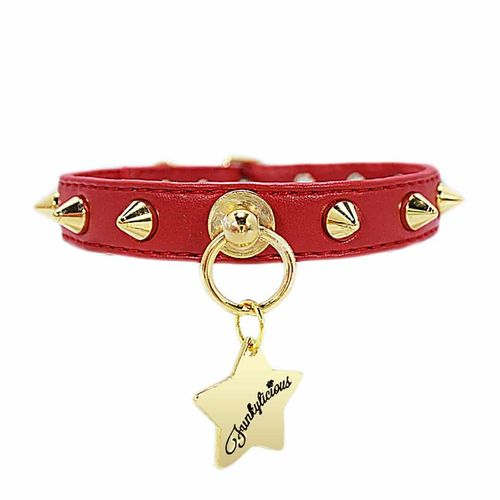 Collar Baby Punk Red