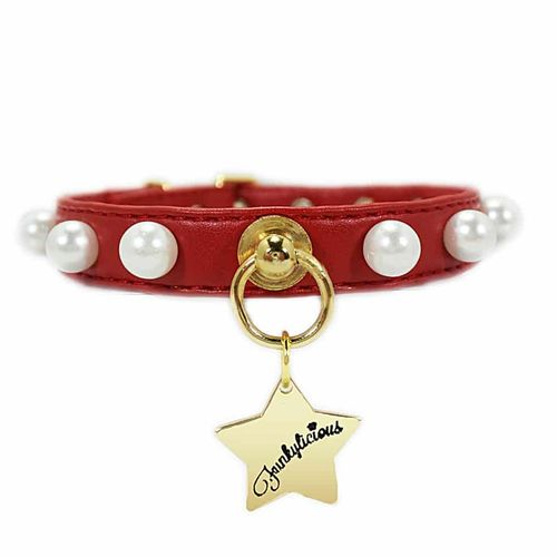 Collar Pearls Red