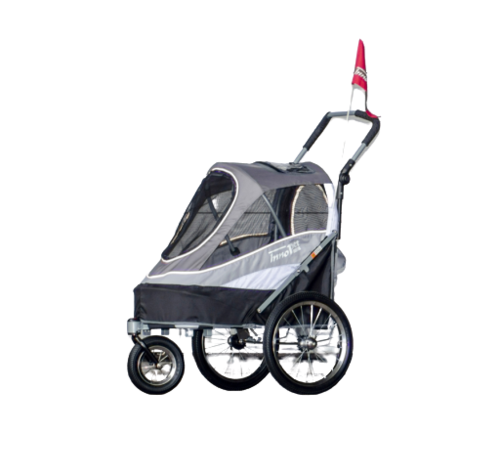 CARRITO DOG TRAILER DELUXE GRIS