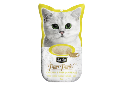 Kitcat PurrPuree con pollo y fibra HAIRBALL