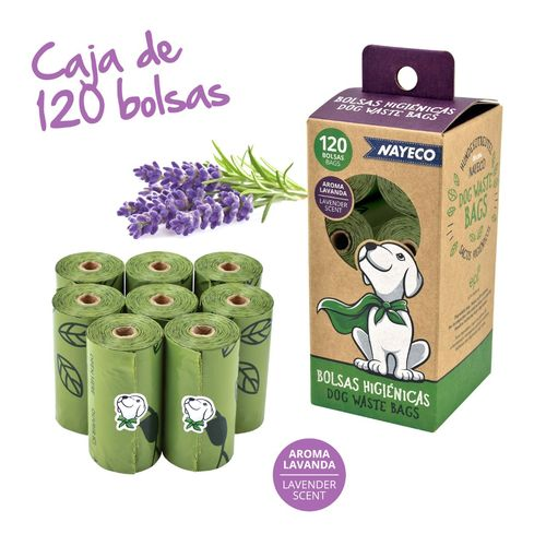 120 bolsas biodegradable Lavanda